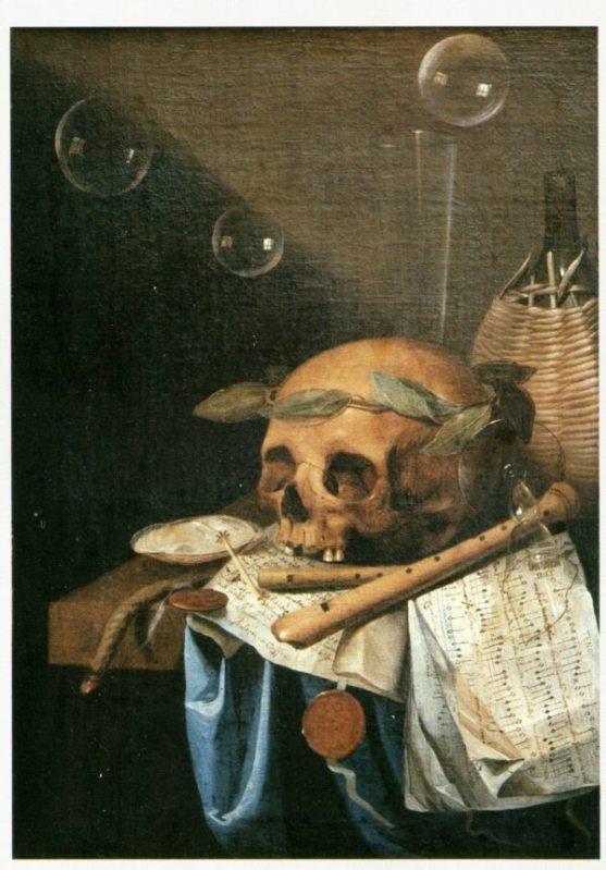 Vanitas, Simon Renard de Saint André, 1650 circa , Lione, Musée des beaux arts